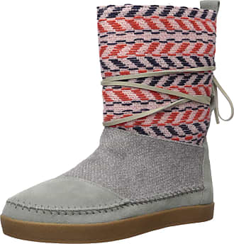Toms Womens Nepal Fashion Boot, Neutral Grey Suede/Textile Mix, 6 Medium US