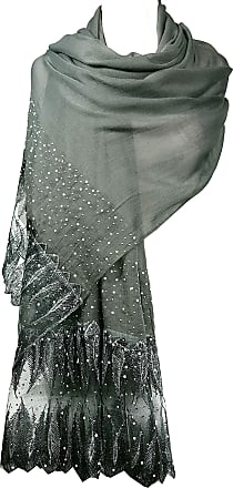 GFM Exquisite Lace Scarf in Feathers Design (PCKPASH)(18006-Y-FTHR-LACE-BH)
