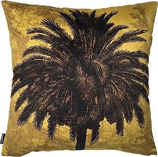 Vanilla Fly 50 x 50cm Mustard Velvet Palm Cushion Cover LA67 - velvet | 50x50cm - Mustard