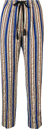 Forte_Forte striped straight-leg trousers - Azul