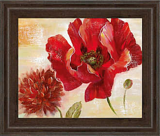 Classy Art Passion For Poppies II Framed Wall Art - 8135