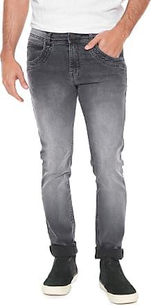 Zune Jeans Calça Sarja Zune Slim Pespontos Azul