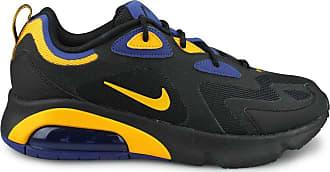 Nike Mens Air Max 200 39s Running Shoes, Black/University Gold/Deep Royal Blue, 10.5 UK