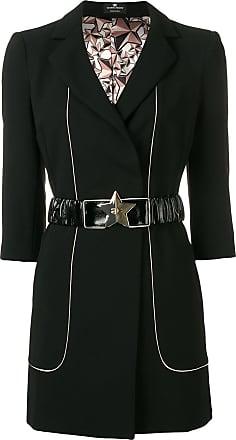 Elisabetta Franchi contrast trim blazer dress - Black