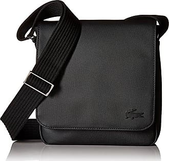 Lacoste Mens Flap Crossover Bag, Black, One Size