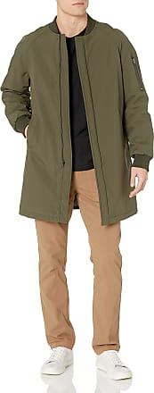 DKNY mensDOUGR4XRSlim Fit Long Bomber Jacket Raincoat - Green - 40 Lange