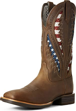 Ariat Mens Quickdraw VentTEK Western Boots in Distressed Brown Leather, D Medium Width, Size 10.5, by Ariat