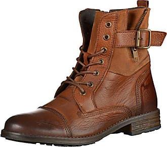 Mustang Damen Leder Stiefeletten Braun, Schuhgröße EUR 44 d25649045a