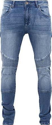 Urban Classics Slim Fit Biker Jeans - Jeans - blau
