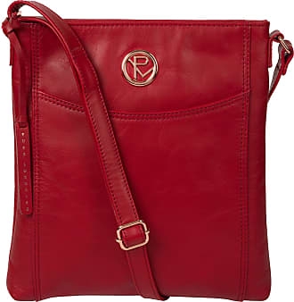 Pure Luxuries London Pure Luxuries London Gilpin Womens 26cm Biodegradable Leather Cross Body Bag with Zip Over Top, Natural 100% Cotton Lining and Adjustable Slimline Lea