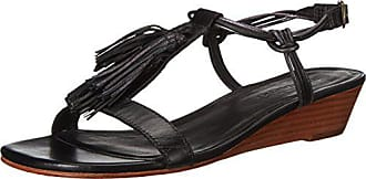 Bernardo Womens Court Wedge Sandal, Black/Petrol, 7.5 M US