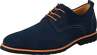 iLoveSIA Mens Oxford Leather Suede Shoes UK Size 10.5 Blue (US 11.5)