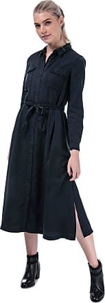 French Connection Womens Womens Tandy Tie Waist Shirt Dress in Indigo - 12