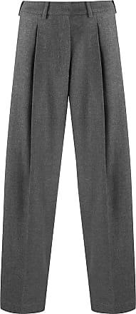 JEJIA wide leg cropped trousers - Cinza