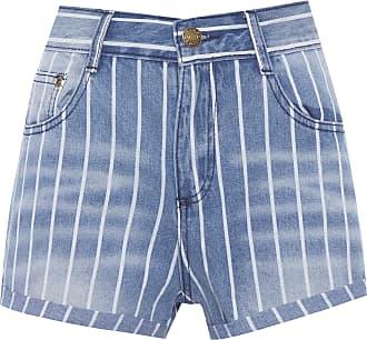 Market 33 Short Jeans Listrado - Azul