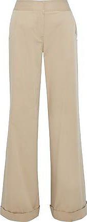 Derek Lam Derek Lam Woman Stretch Cotton-faille Wide-leg Pants Sand Size 48