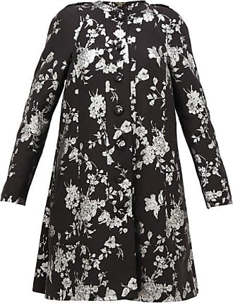 Erdem Kerianne Single-breasted Cotton-blend Brocade Coat - Womens - Black Silver
