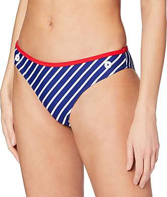 Pour Moi? Womens Starboard Stripe Bikini Bottoms, Blue (Navy/Red), 10