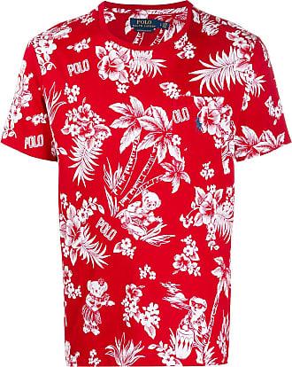 Polo Ralph Lauren T-shirt con stampa hawaiana e logo - Di colore rosso