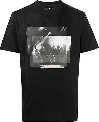 7 For All Mankind Camiseta de algodão com estampa gráfica - Preto
