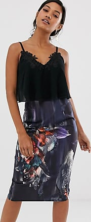 Little Mistress 2-in-1-Kleid mit geblümtem Rock-Mehrfarbig