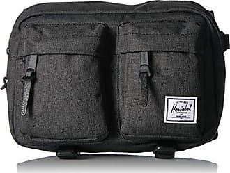 Herschel Eighteen Fanny Pack Black Crosshatch One Size