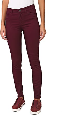 Vero Moda Calça Sarja Vero Moda Skinny Lisa Roxa