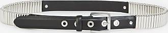 The Kooples Black leather belt with silver detail - MEN