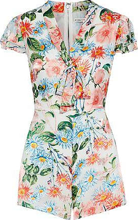 Alice & Olivia Alice + Olivia Woman Floral-print Fil Coupé Playsuit Multicolor Size 6