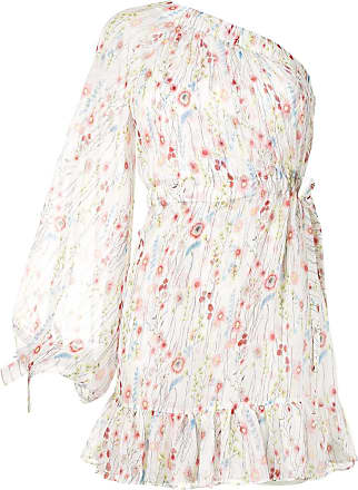 Alexis Vestido ombro único Edyta floral - Branco