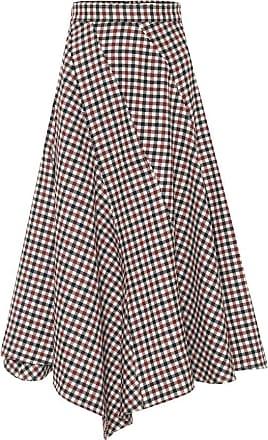 J.W.Anderson Checked wool midi skirt