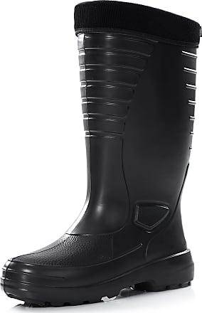 Ladeheid Mens EVA Thermo Extra Light Wellington Boots Rainy Wellies Rain Boots LA-862 (Black, 11.5 UK)