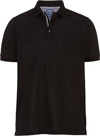 Olymp Casual Polo-shirt, modern fit, Schwarz, 3XL