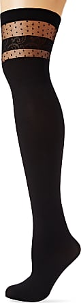 Fiore Womens Nell/Sensual Suspender Stockings, 40 DEN, Black, Large (Size: 4)