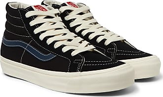 f1319d0a998f91 Vans Og Sk8-hi Lx Leather-trimmed Canvas And Suede High-top Sneakers