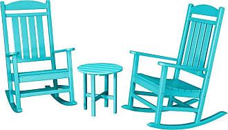 POLYWOOD Presidential 3 Piece Outdoor Rocking Chair Set - PWS109-1-SA