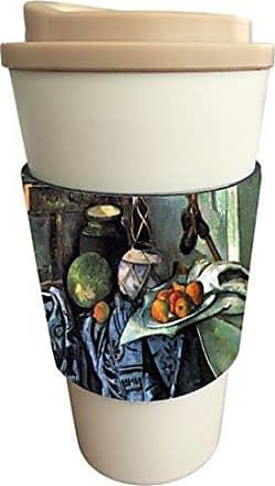 Rikki Knight Paul Cezzane Art Still Life With Eggplant Design Latte Beverage Insulator, Black