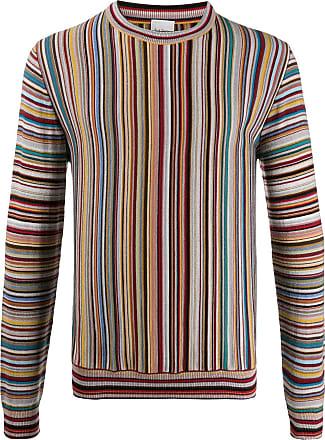 Paul Smith Suéter mangas longas de tricô listrado - Amarelo