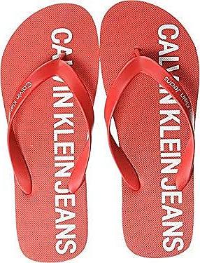 Calvin Klein CK Jeans Mens ERROL Sandal, Tomato Rubber, 9 M US