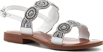Woz? Sandalo in Pelle con Strass