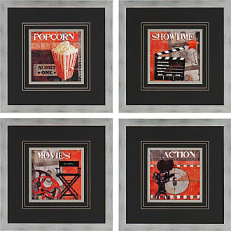 Paragon Picture Gallery Show Time Framed Wall Art - Set of 4 - 3406