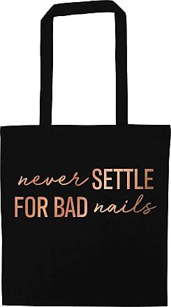 Flox Creative Black Tote Bag Rose Gold Never Settle for Bad Nails
