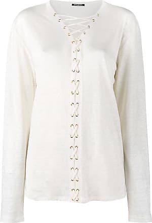 Balmain Blusa de linho - Branco