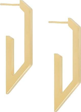Nove25 Par de brincos Trapeze Plate - Dourado