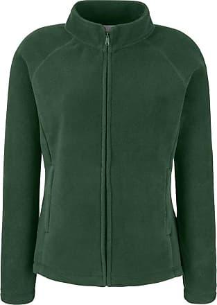 Fruit Of The Loom Ladies Lady Fit Full Zip Fleece Jacket Bottle Green