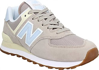 New Balance Baskets   Tennis mode NEW BALANCE 574 velours Femme Rose Clair 55b20c7c04a7