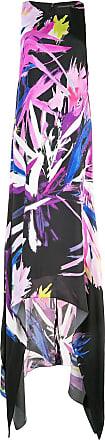 Natori Vestido longo assimétrico - Preto