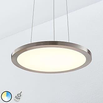 Lampenwelt.com Lámpara colgante LED Tess, 40 cm, cromo