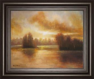Classy Art Golden Lake Glow I Framed Wall Art - 26W x 22H in. - 4869
