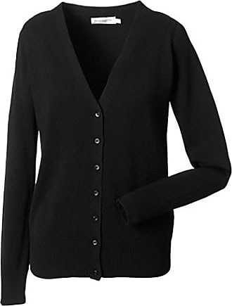 Russell Athletic Russell Collection Ladies/Womens V-neck Knitted Cardigan (3XL) (Black)